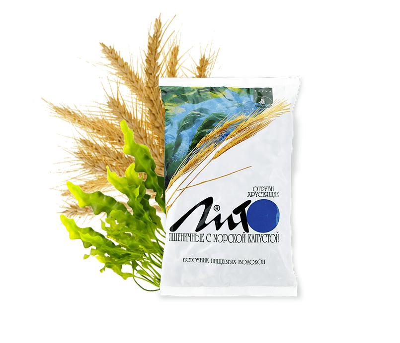 Отруби пшеничные хрустящие «ЛИТО» с кальцием и морской капустой
