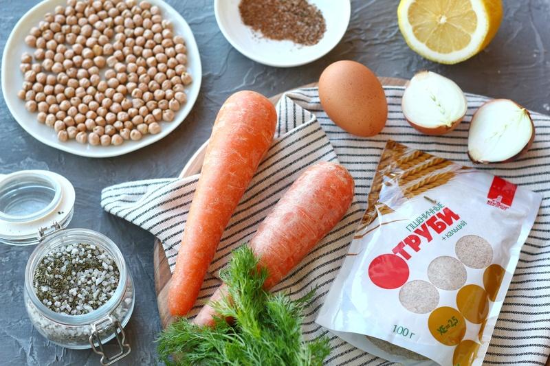 Морковно-нутовые котлеты