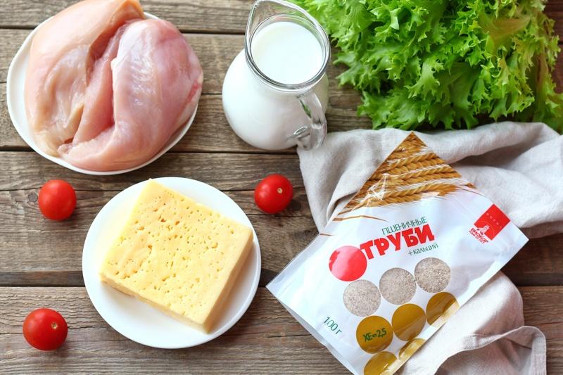 Сочные куриные наггетсы в панировке из сыра и отрубей