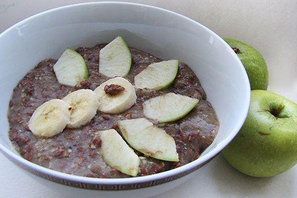 Полезный завтрак из семян льна