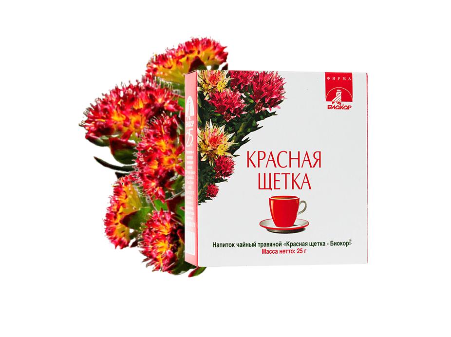 Фото 1 - Чайный напиток «Красная щетка «Биокор», 25г.