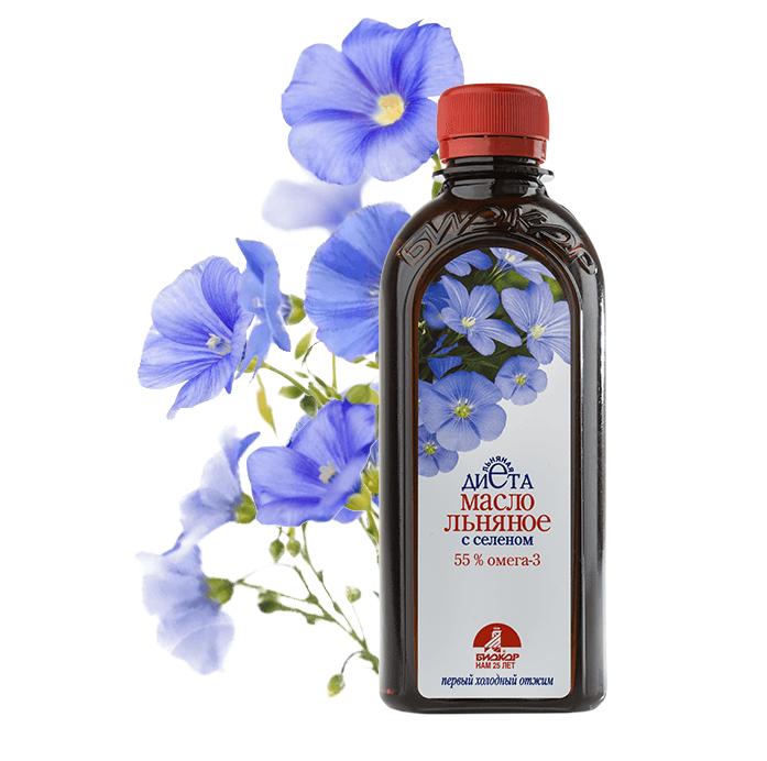 "Фото 3 - Flaxseed oil with selenium ""Biokor"", 250 ml."