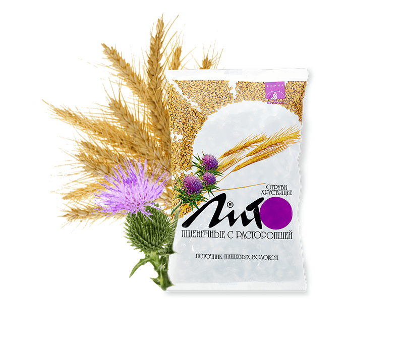 "Фото 2 - ""Lito"" wheat crispy bran with calcium and milk thistle, 200g."