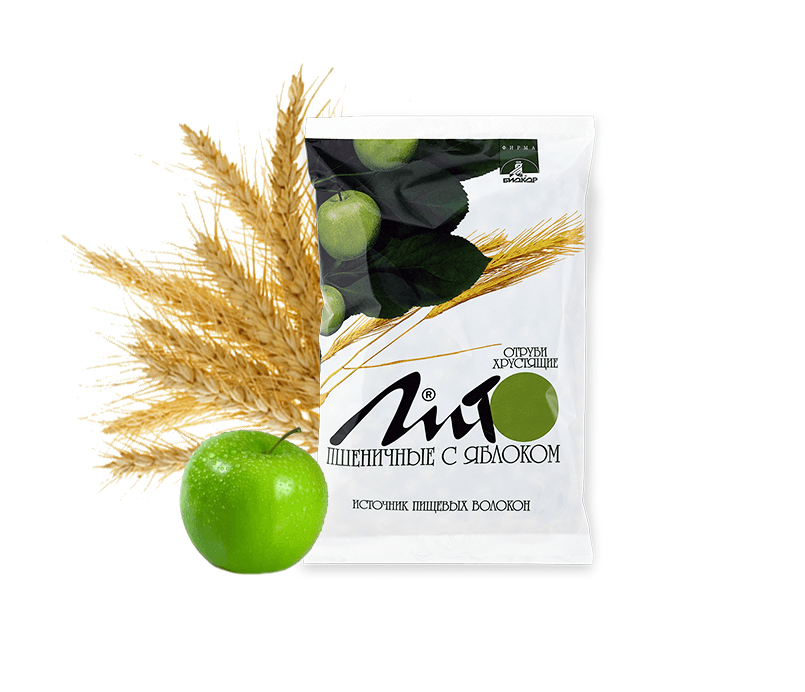 "Фото 7 - ""Lito"" wheat crispy bran with calcium and apple, 200g."