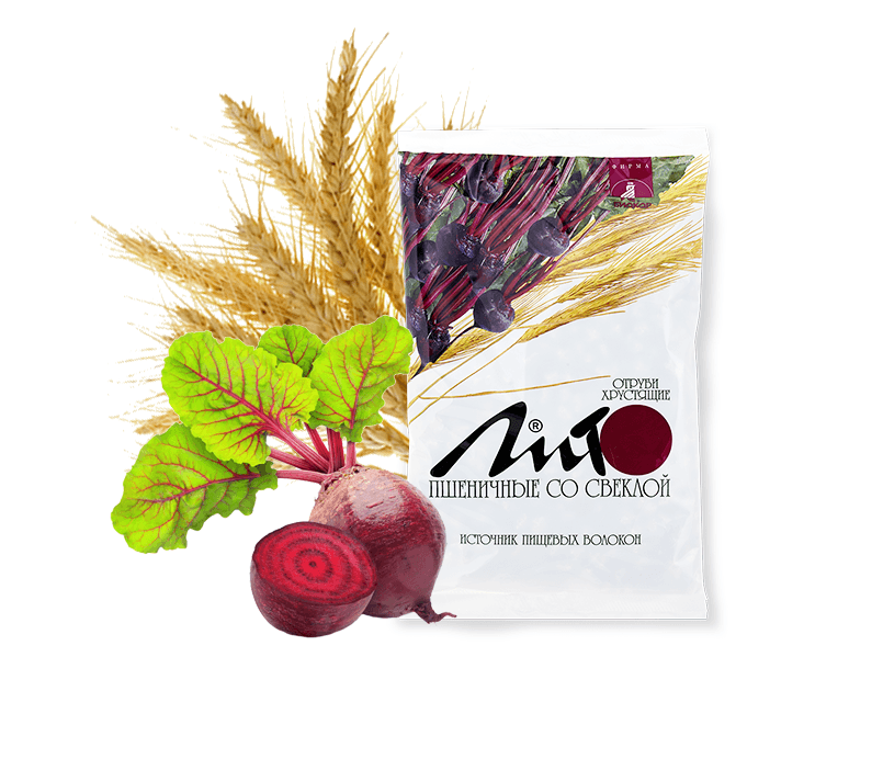 "Фото 5 - ""Lito"" wheat crisy bran with calcium and beet, 200g."