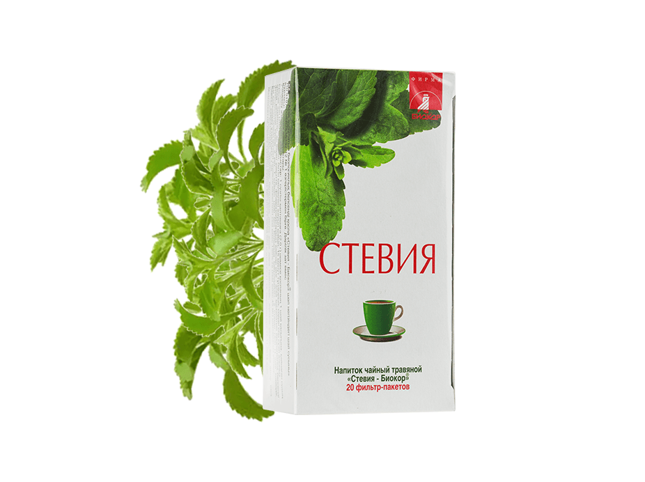 "Фото 4 - Herbal tea drink Stevia ""Biokor"", 20 filter bags."
