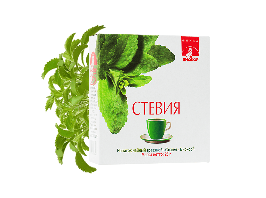 "Фото 3 - Herbal tea drink Stevia ""Biokor"", 25g."