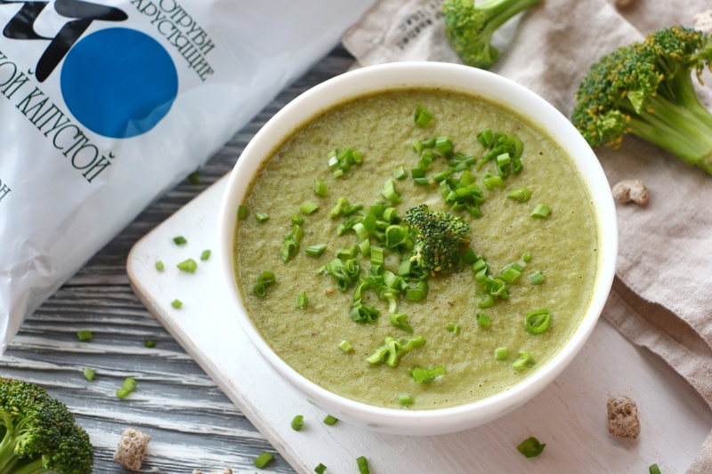 Согревающий овощной суп-пюре с отрубями