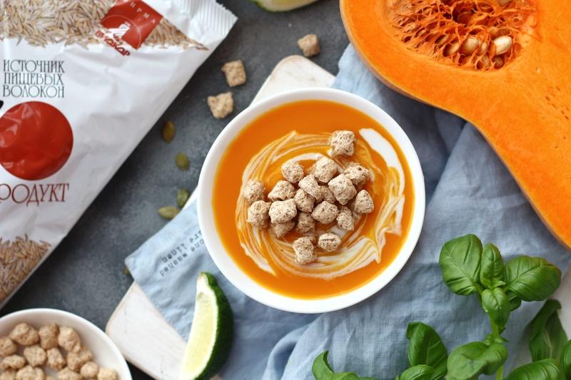 Тыквенный суп с отрубями