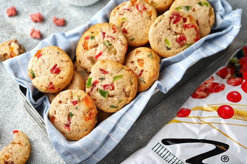 Печенье с отрубями и цукатами