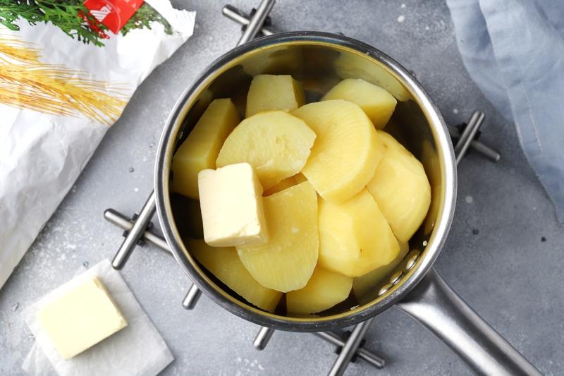 Картофельная лепешка (фарл) с отрубями