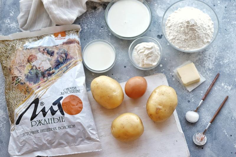 Калитки с ржаными отрубями и картофелем