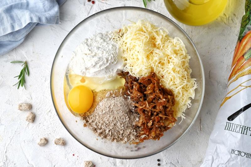 Оладьи из баклажана с сыром и отрубями