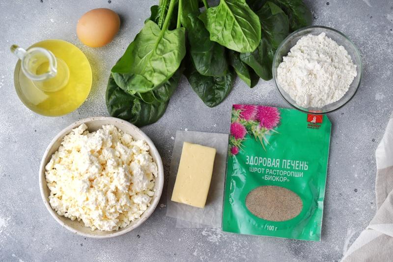 Сырные сырники со шпинатом и шротом расторопши