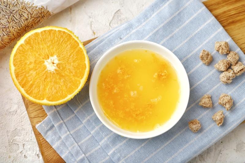 Апельсиновые маффины с отрубями