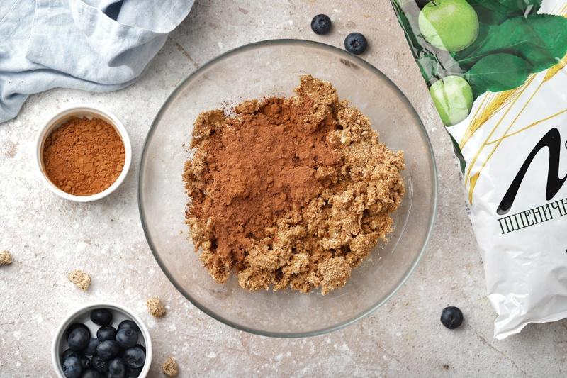 Королевская ватрушка с какао и отрубями